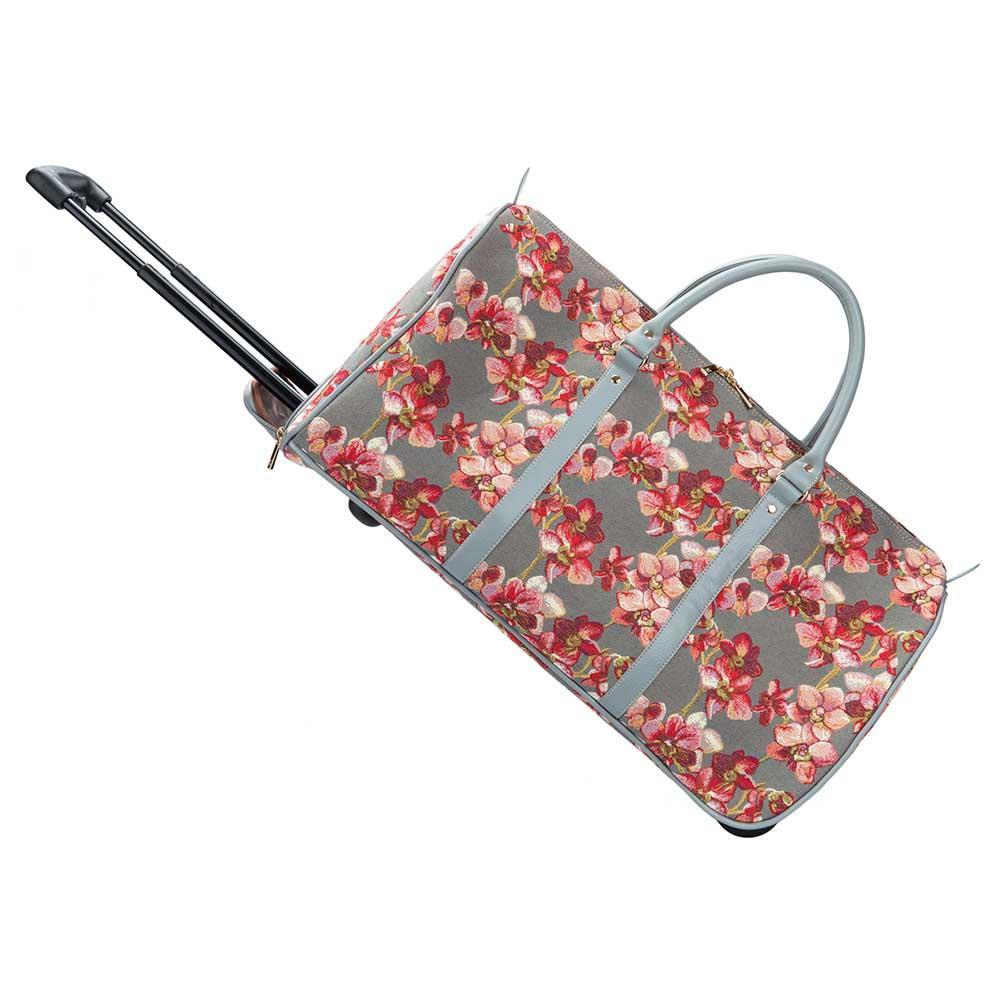 Wild Orchid Flowers Pull Holdall | Purple Orchid Tripp Luggage | PULL-ORC