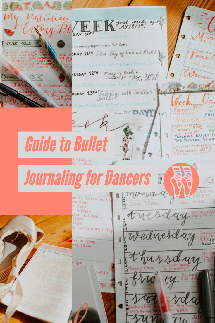 Guide to Bullet Journaling for Dancers Title